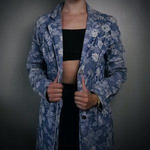 VINTAGE Floral Denim Jacket  | Size 8